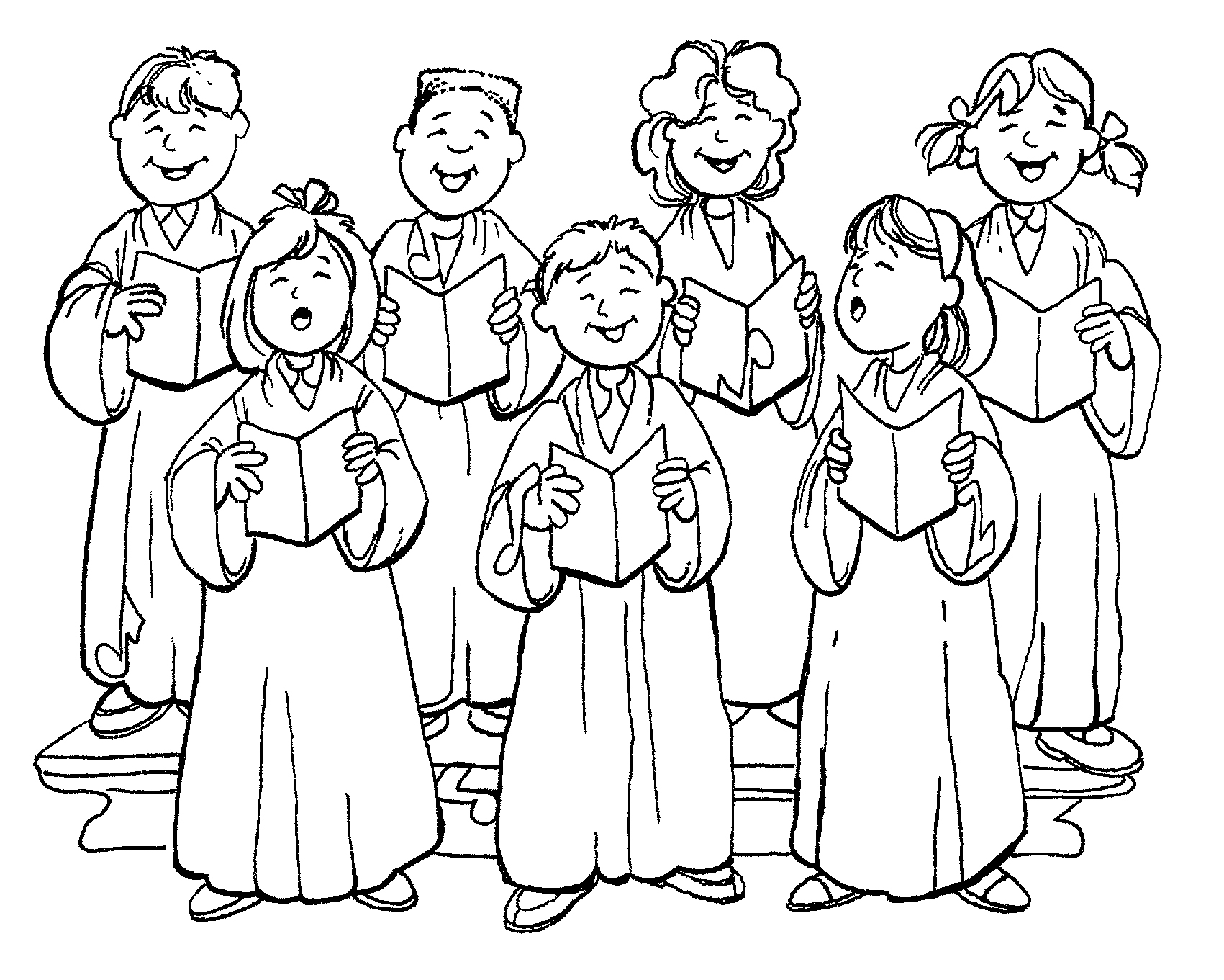 Chorus Colouring Pages