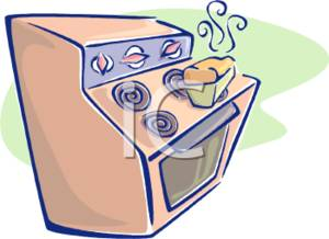 Clipart Picture Of An Oven With Fresh Baked Bread