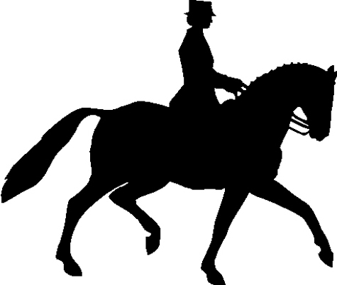 Horse silhouette dressage - photo#8