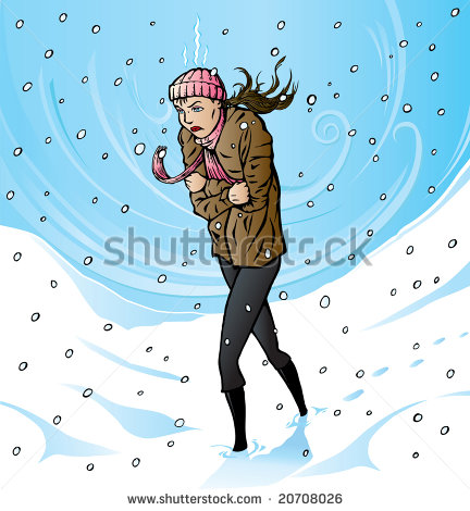 Freezing Cold Women Clipart - Clipart Suggest
