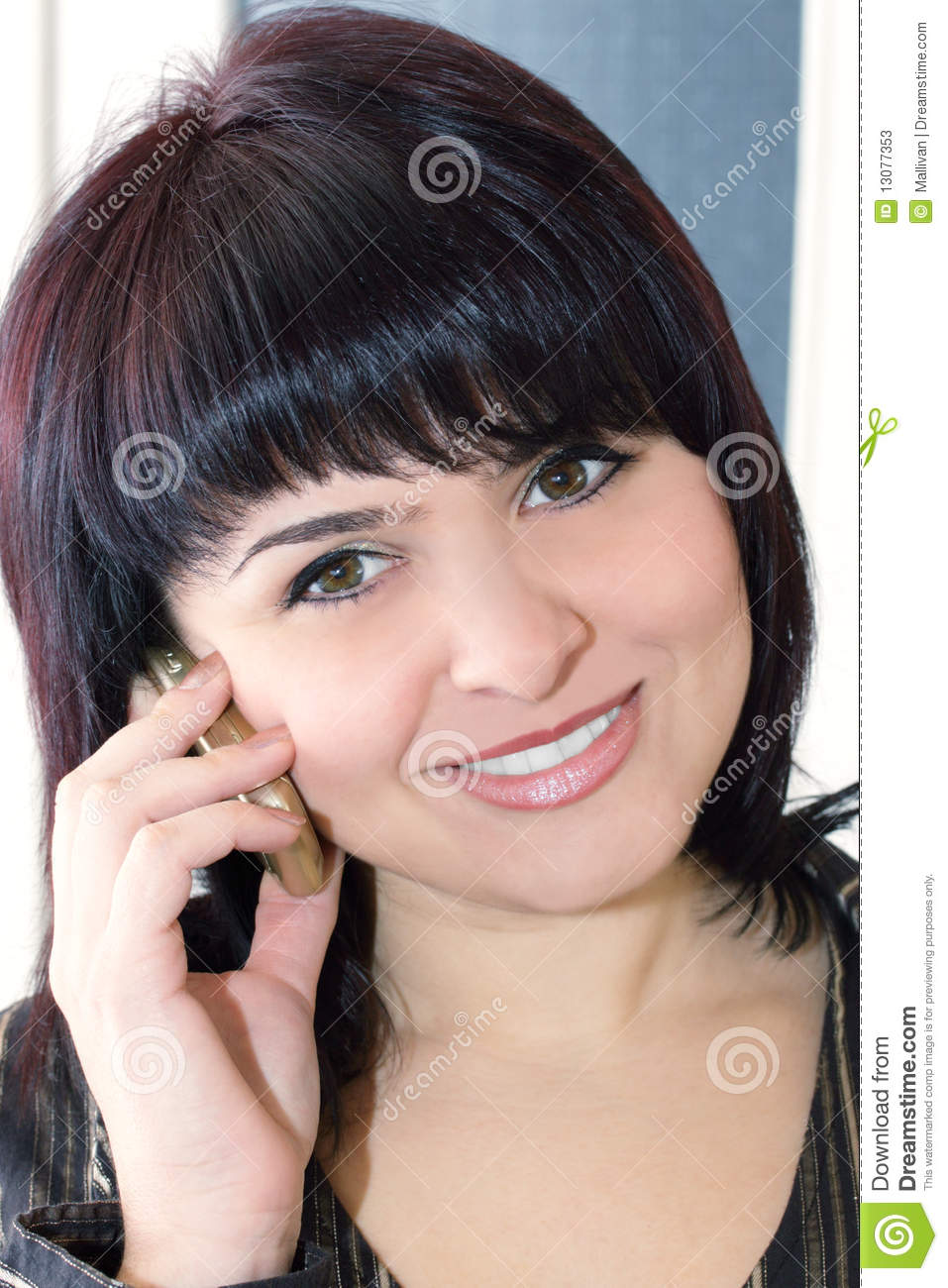 Lady Talking On Mobile Phone Stock Photos   Image  13077353