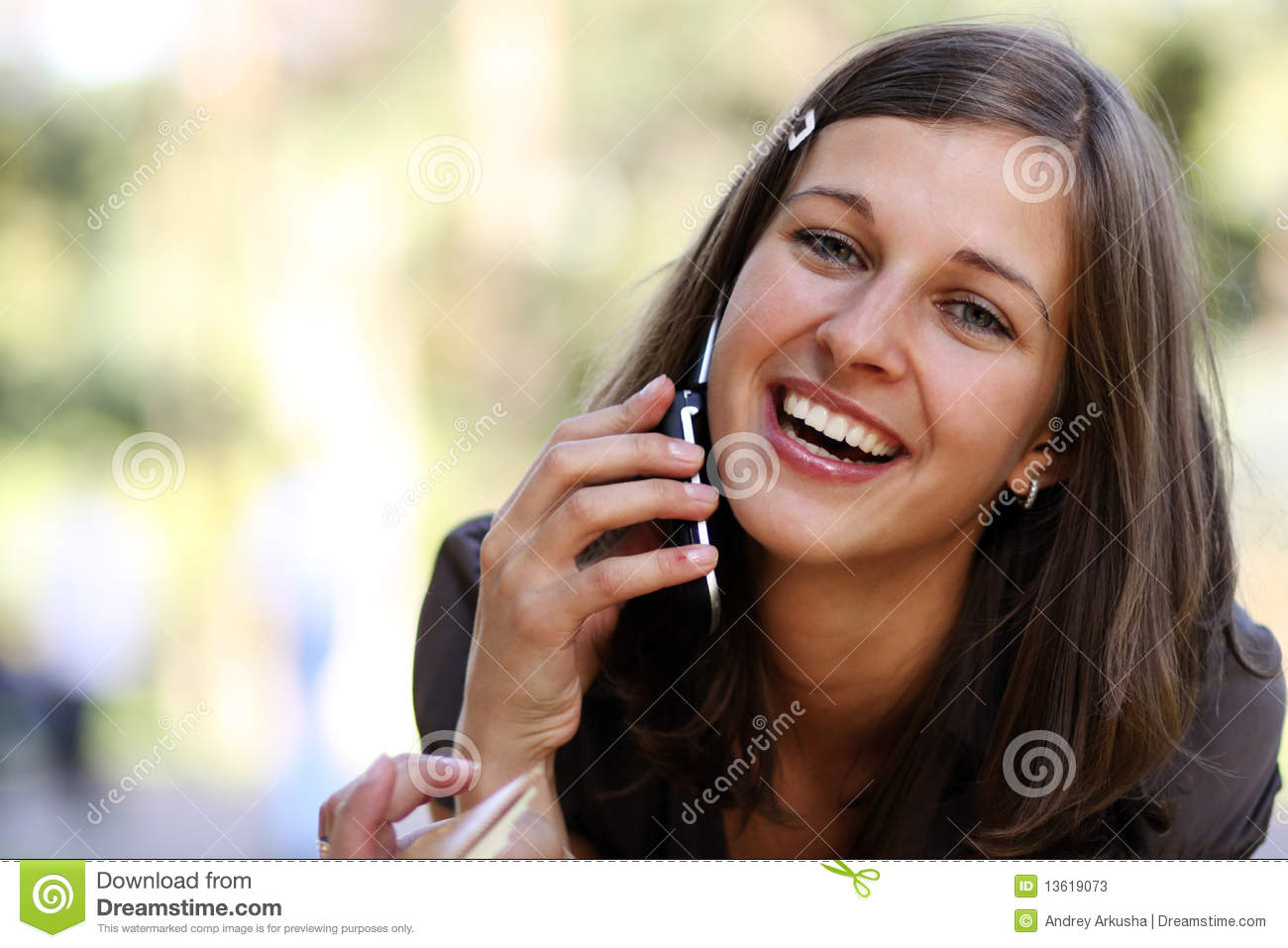 Lady Talking On Mobile Phone Stock Photos   Image  13619073
