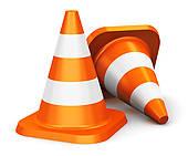 Orange Construction Cone Clip Art