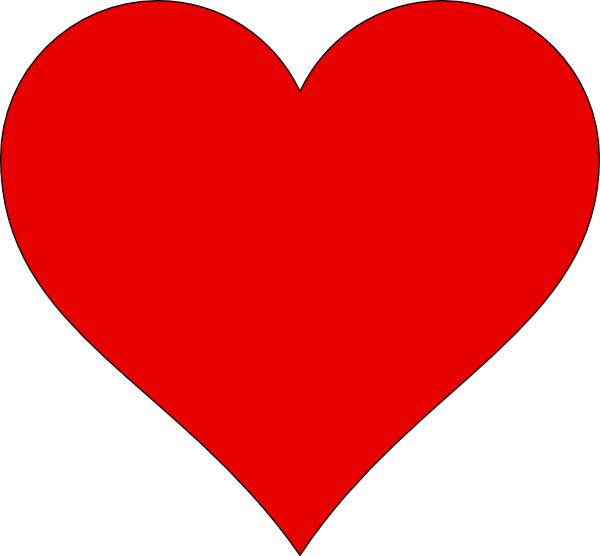 Heart Shape Outline Clipart - Clipart Kid
