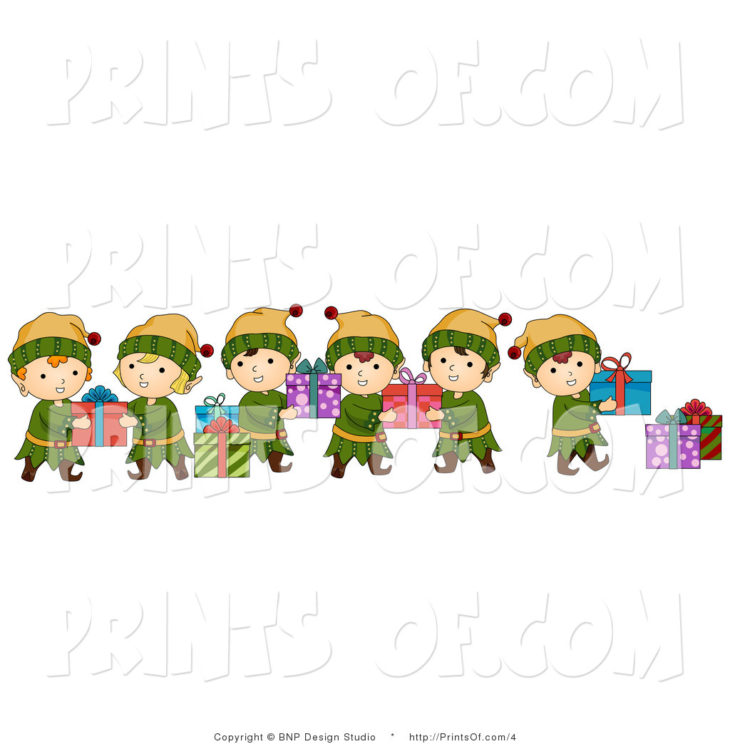 elves with reindeer clipart clipart suggest