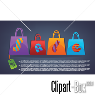 Related Sale Shopping Bags Cliparts