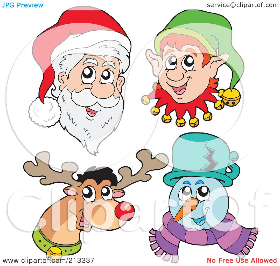elves with reindeer clipart clipart kid