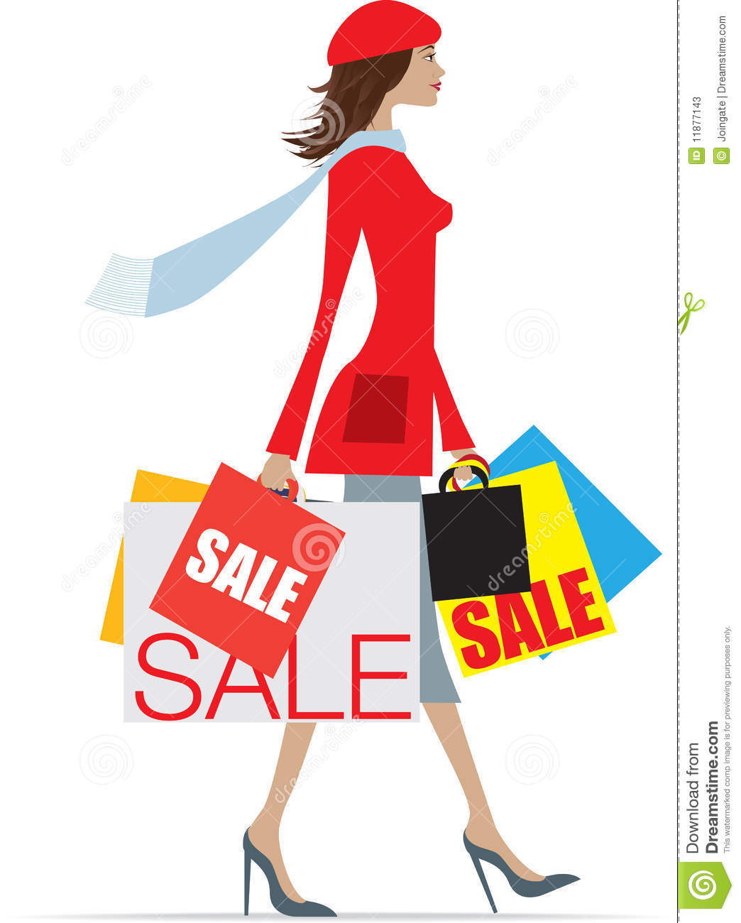 Sales Shopping Woman Stock Photos   Image  11877143