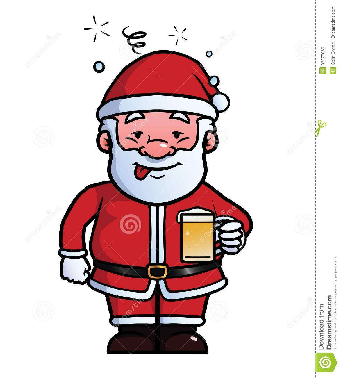 Santa Claus Being Drunk Royalty Free Stock Images   Image  33377069