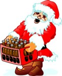 Santa Drinking Beer Clipart Images   Pictures   Becuo