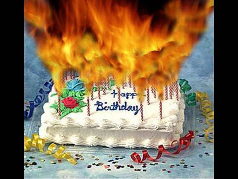 Birthday Cake On Fire Clipart Clipart Suggest