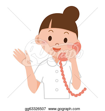 Stock Illustration   Young Nurse  Clipart Drawing Gg63326507