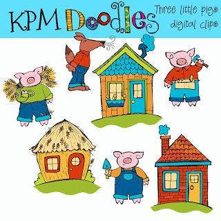 Clip Art Three Little Pigs Clipart clip art three pigs clipart kid little school literacy pinterest