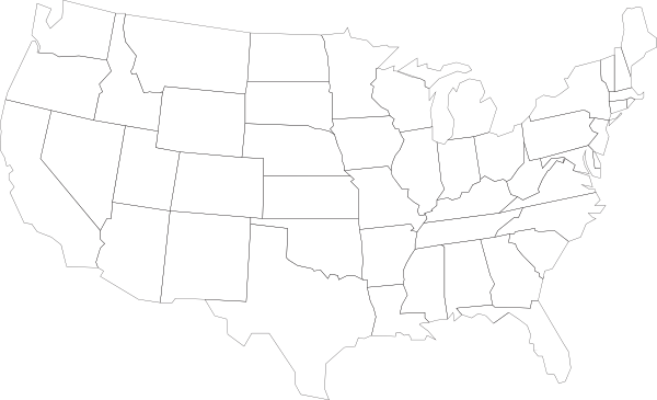 Us States Outline Clipart Clipart Suggest - Blank us map with state outlines