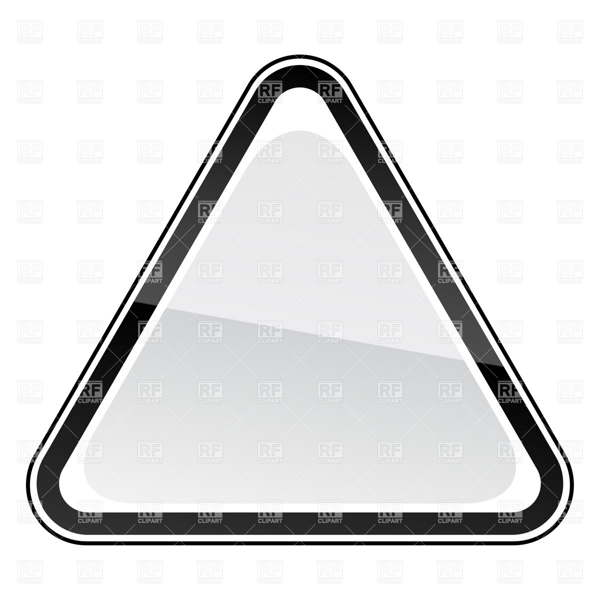 White Blank Three Cornered Road Sign With Black Border 12942