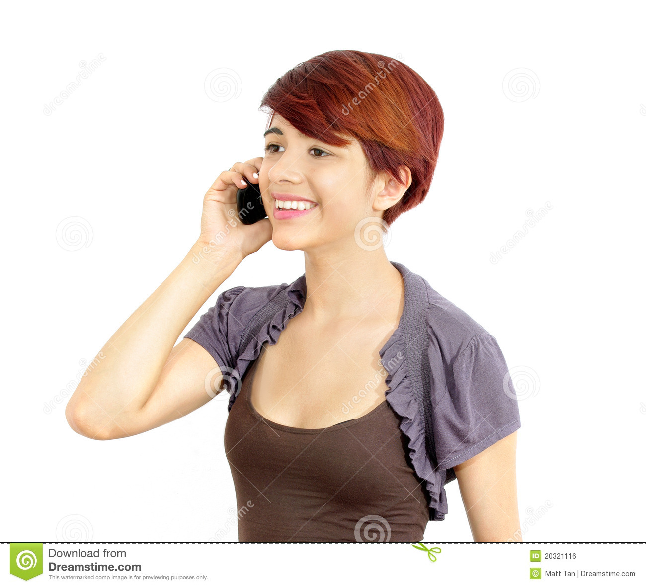 Young Business Lady On Cell Phone Royalty Free Stock Image   Image