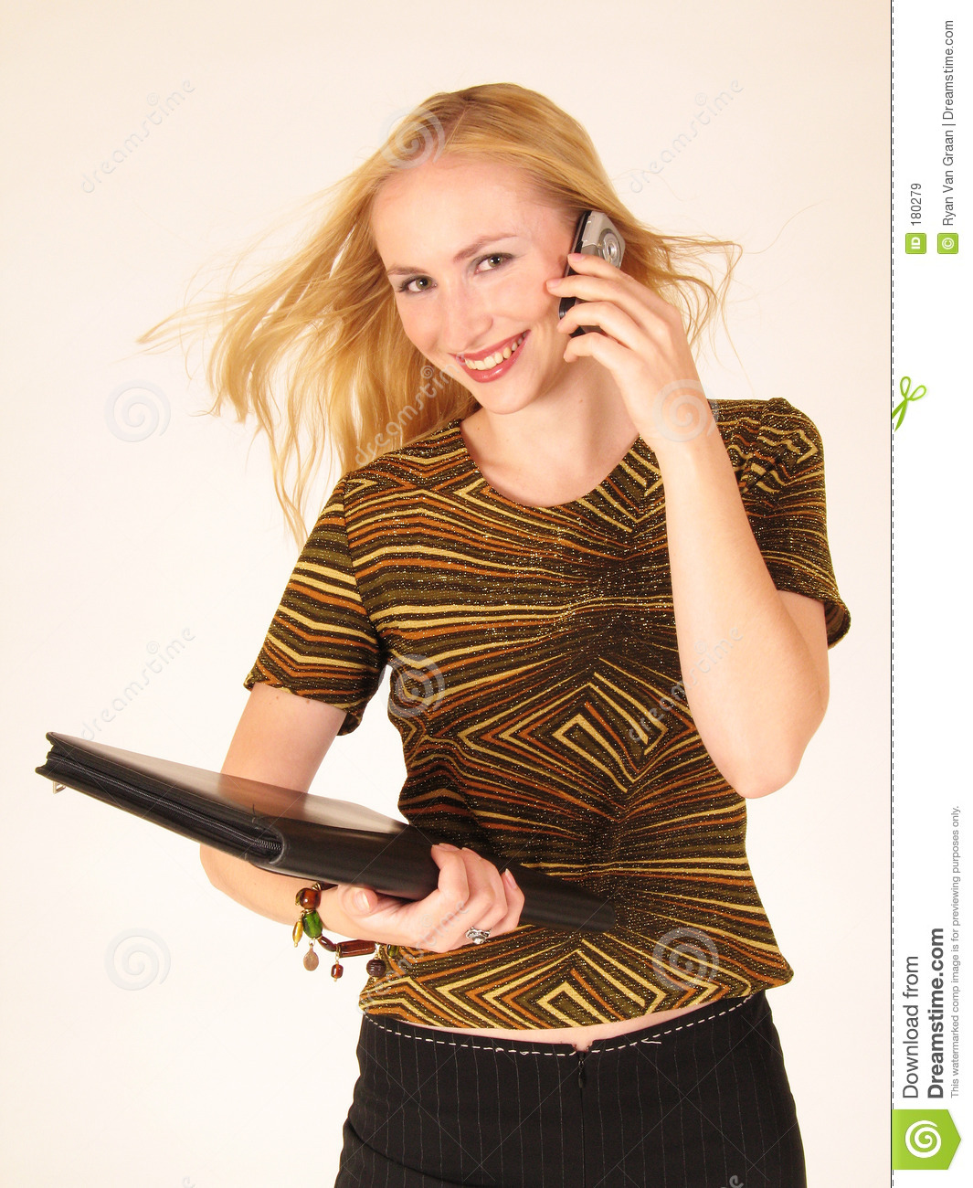 Young Lady Holding A Cell Phone Royalty Free Stock Images   Image
