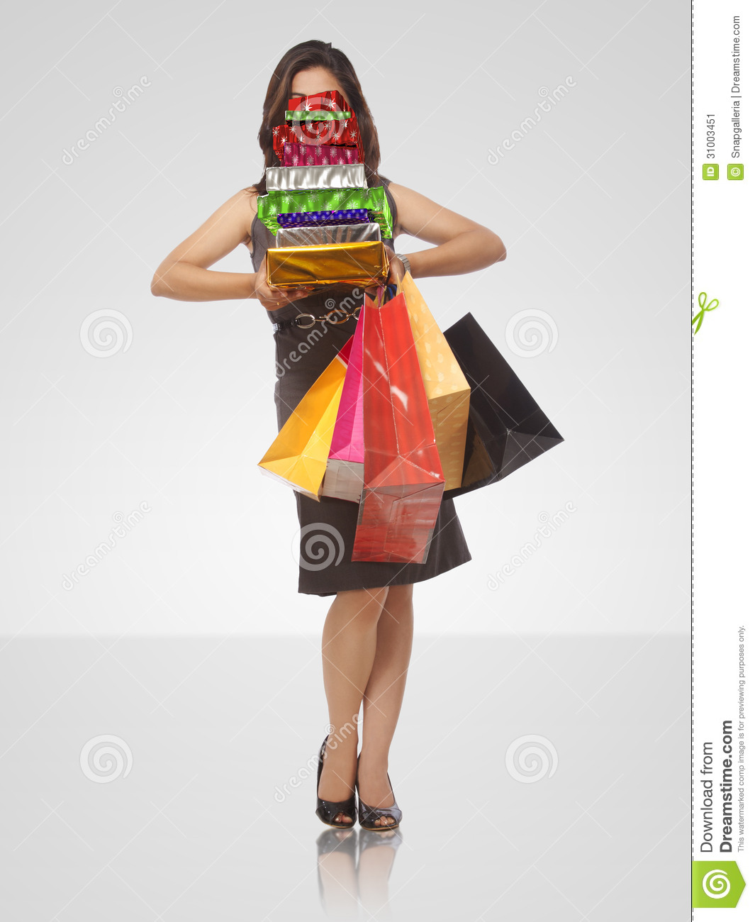 Young Lady With Shopping Bags Stock Image   Image  31003451