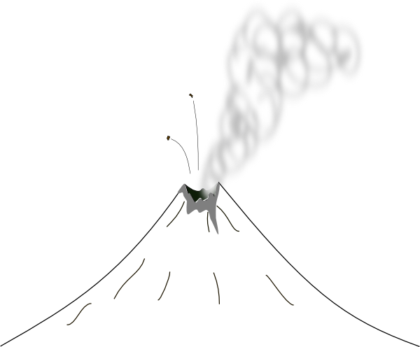 Volcano Clip Art Black And White Images & Pictures - Becuo