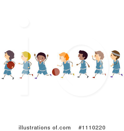 Basketball Clipart  1110220 By Bnp Design Studio   Royalty Free  Rf