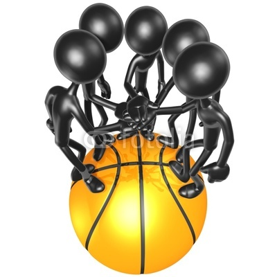 Clip Art Basketball Team