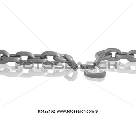 Clip Art   Broken Chain  Fotosearch   Search Clipart Illustration