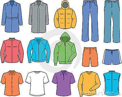 Men S Casual Clothes And Sportswear Illustration Stock Photos   Image