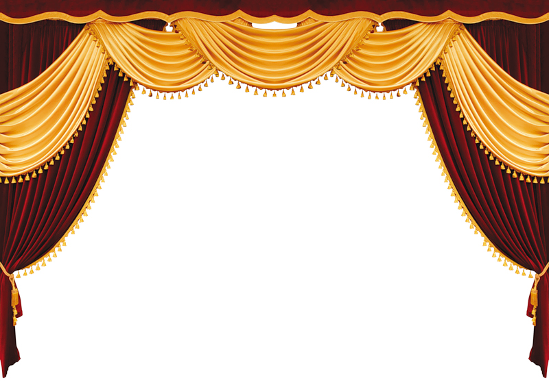 Movie Theater Curtains Clip Art