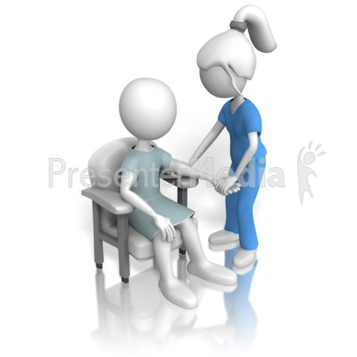 Nurse Or Doctor Inspecting Patient   Signs And Symbols   Great Clipart
