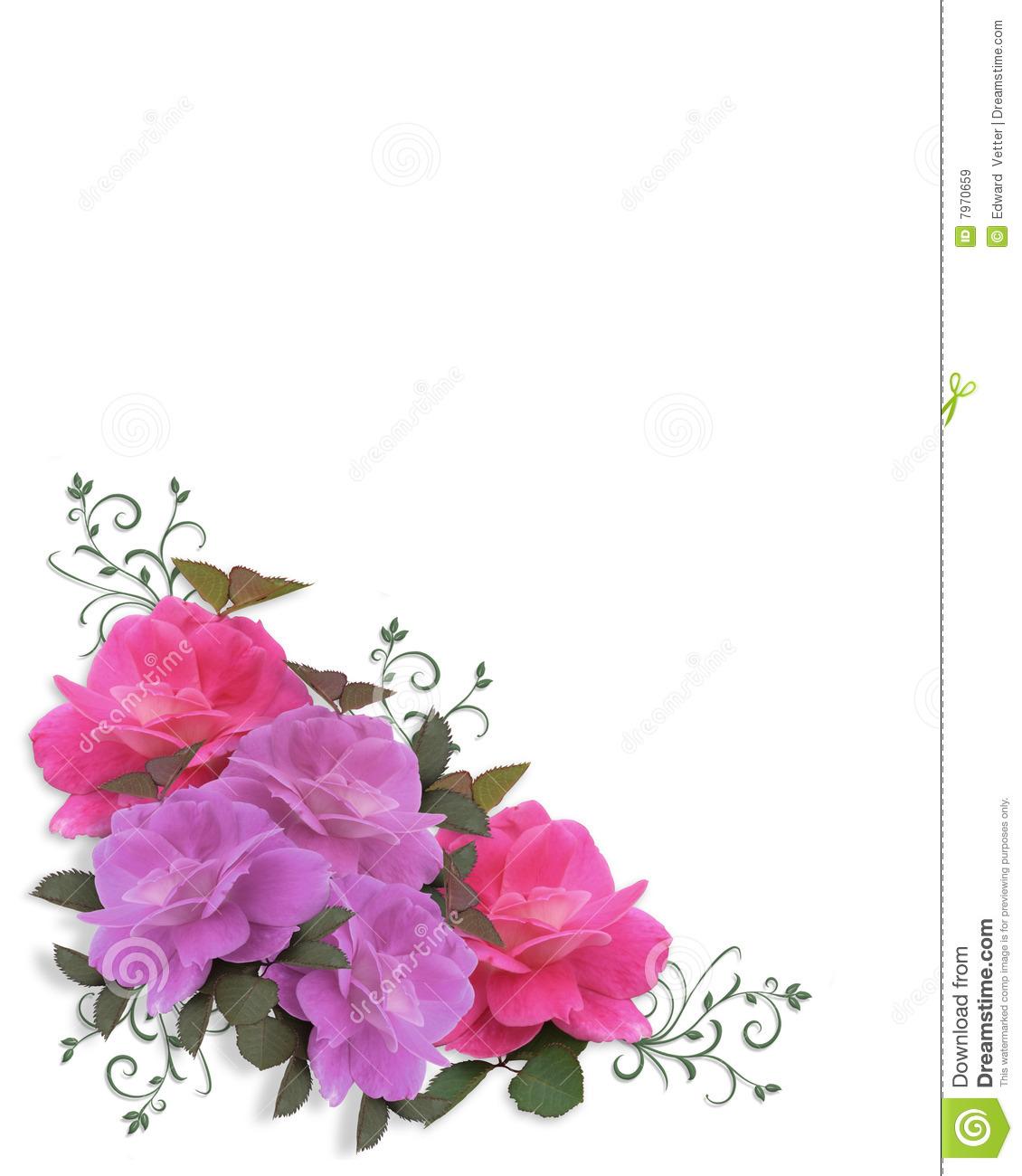 Roses Corner Border Clipart - Clipart Suggest