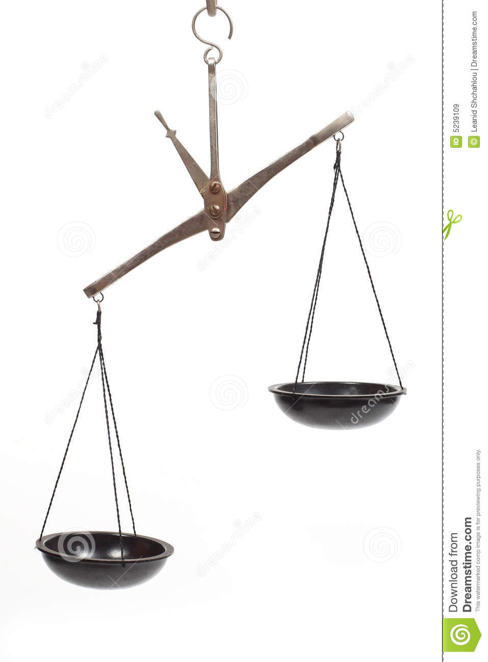 Scales Unbalanced Royalty Free Stock Images   Image  5239109