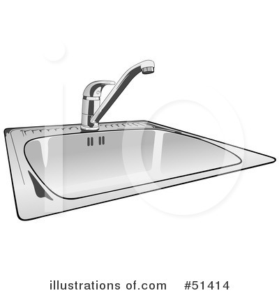 Clip Art Black And White Kitchen Sink Clipart Clipart Suggest
