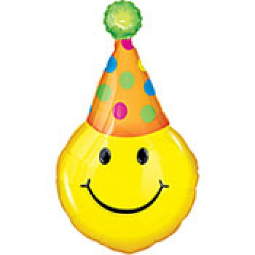 Birthday Hat Smiley Face Smiley Face With Party Hat And