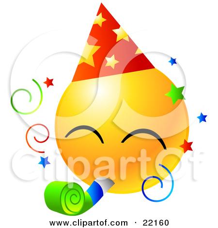 Birthday Smiley Faces Clip Art