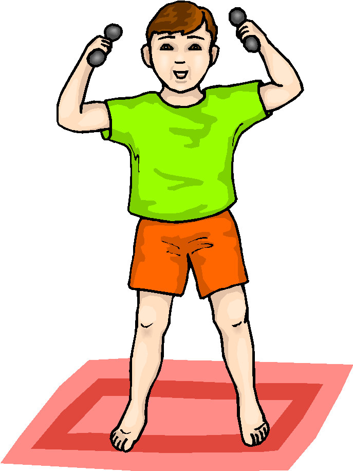 Boy Lifting Weights Free Clipart   Free Microsoft Clipart