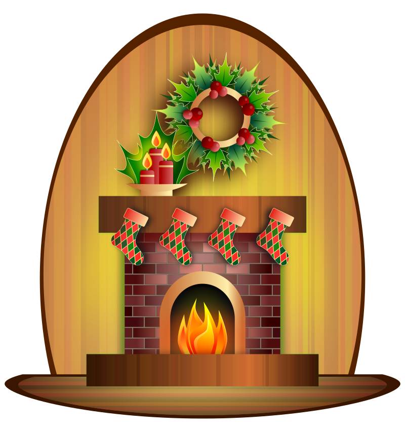 Christmas Fireplace Clip Art