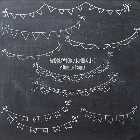 Clip Art Free Chalkboard Clipart bunting on chalkboard clipart kid hand drawn chalk doodle scrapbook