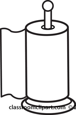 Home   Paper Towels Outline 2   Classroom Clipart