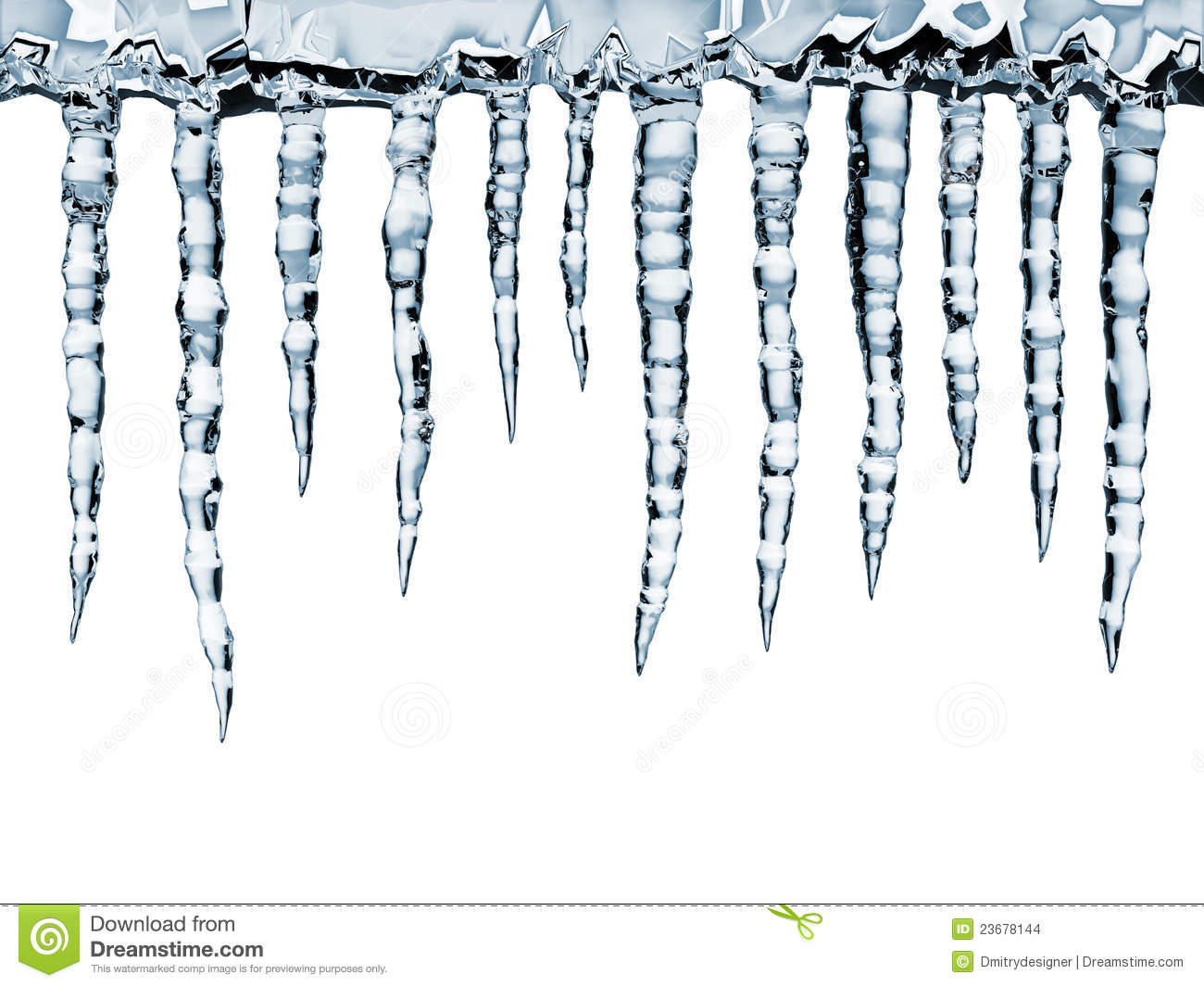 Icicle House Clipart Icicles Close Up Isolated On