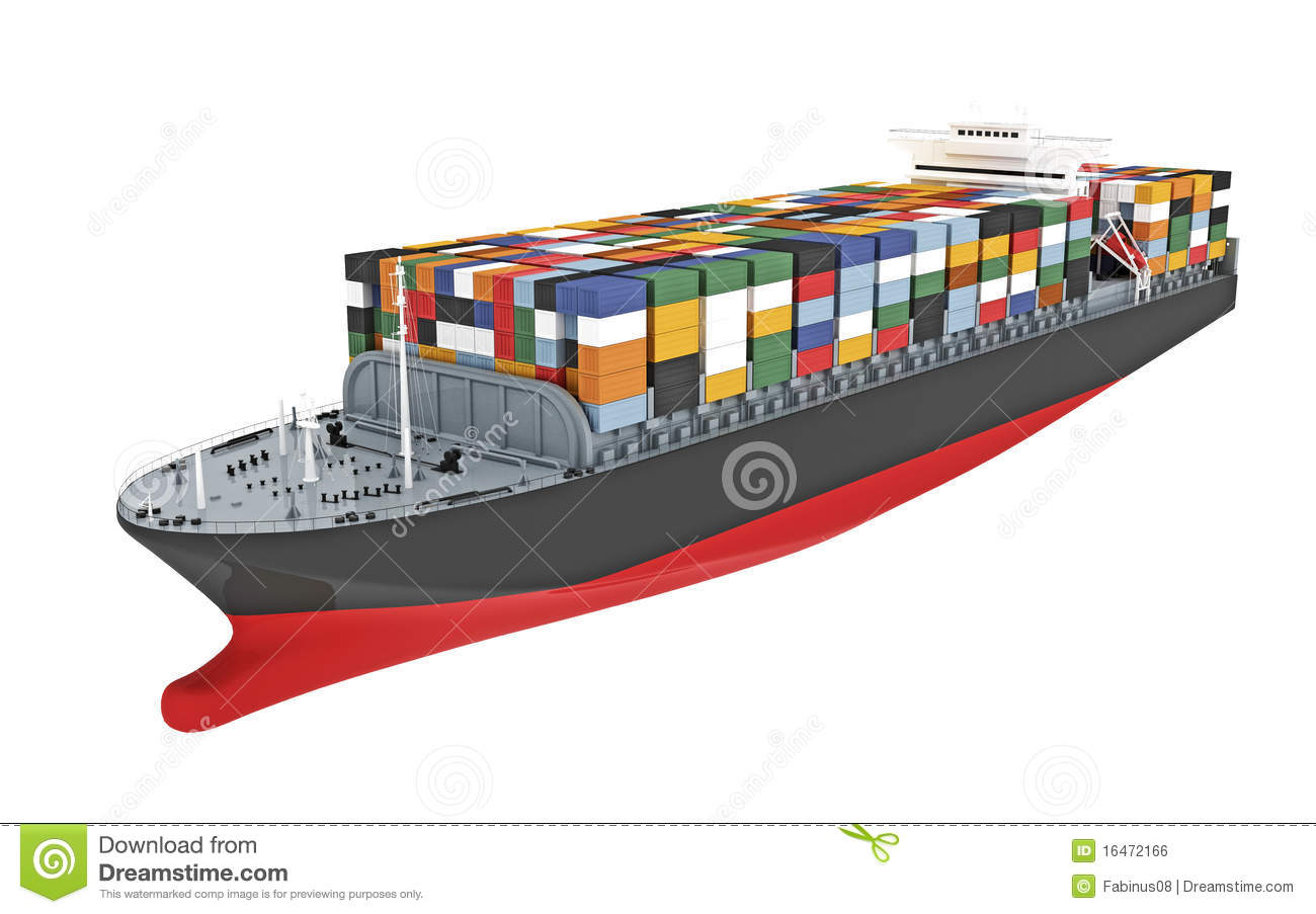 Illustration Of A Cargo Ship Royalty Free Stock Image   Image