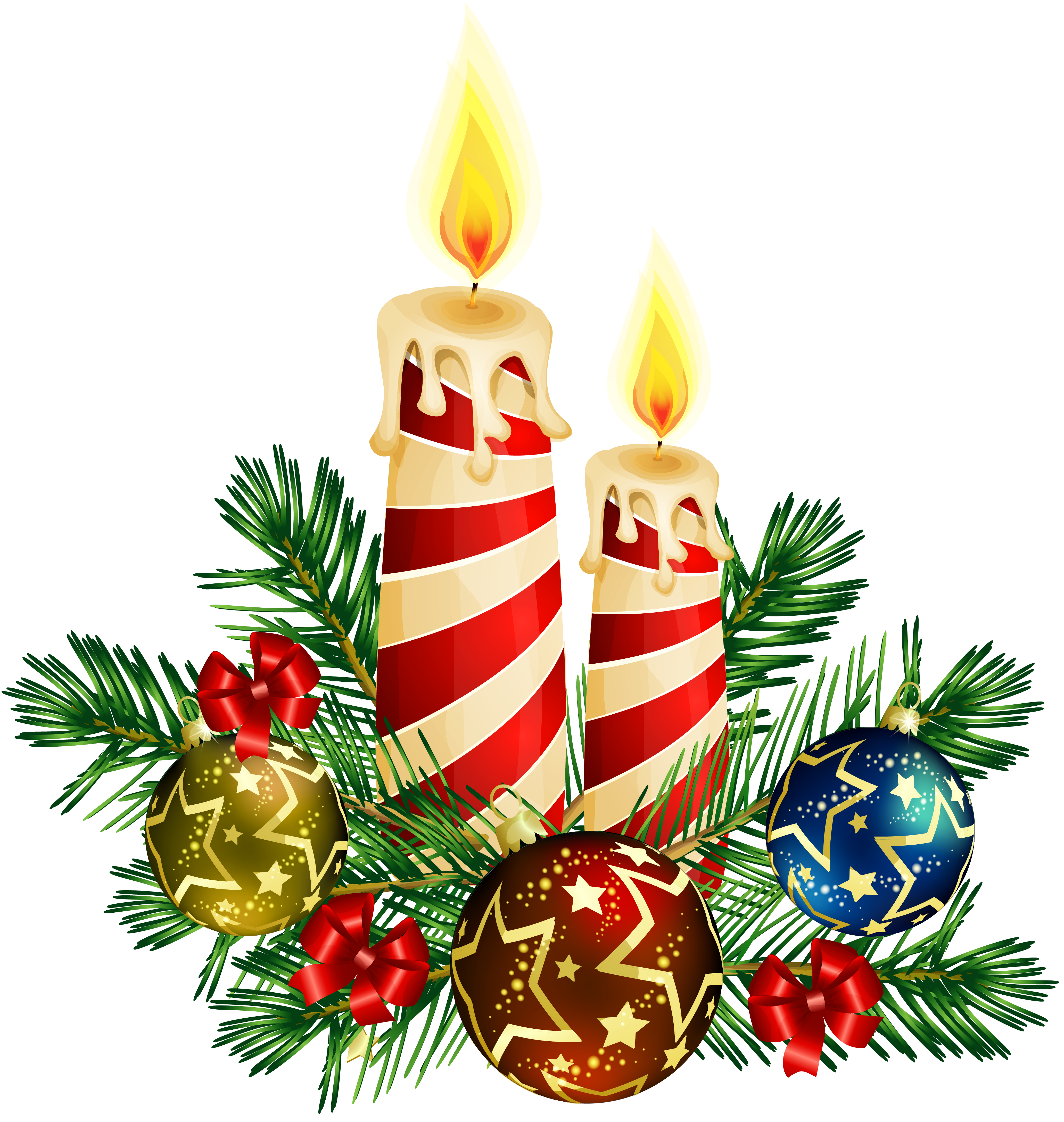 Christmas Candle Clipart - Clipart Suggest