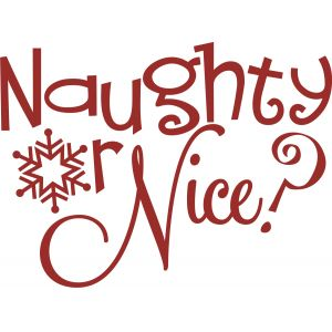 naughty nice cliparts