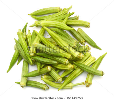 Okra Clip Art Black And White