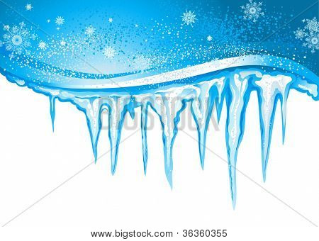 Picture Or Photo Of Winter Background With Icicles