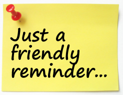Showing Gallery For Friendly Reminder Clip Art