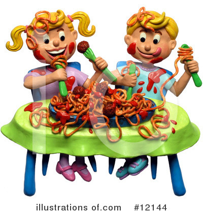 Spaghetti Clipart  12144 By Amy Vangsgard   Royalty Free  Rf  Stock