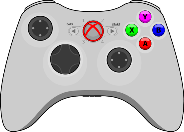 X Box 360 Controller Clipart - Clipart Suggest