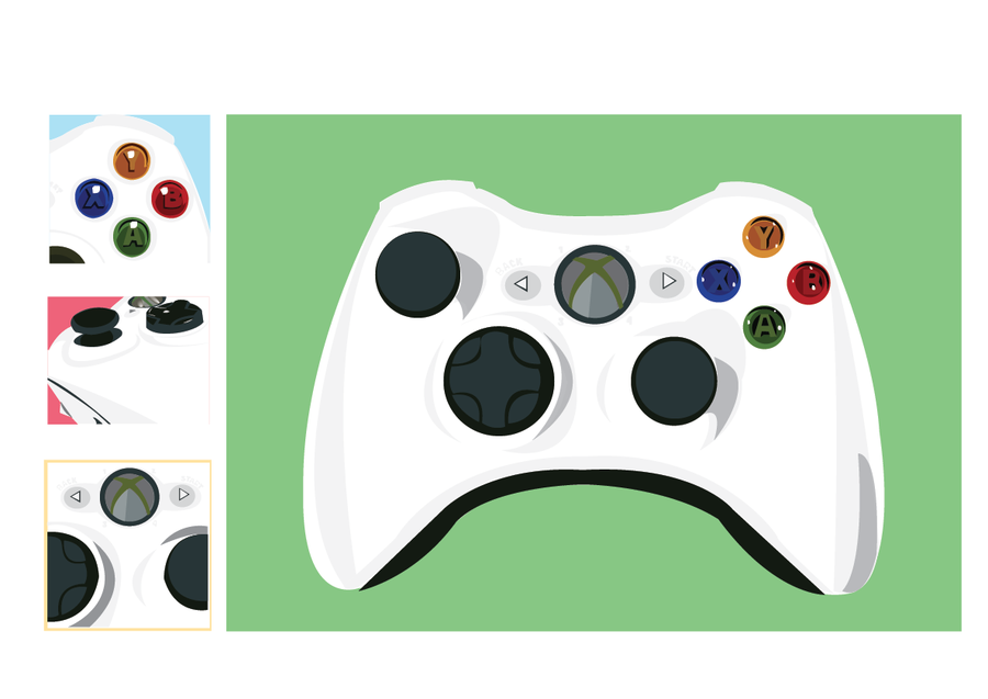 Xbox 360 Controller Vector By Ajl03 On Deviantart