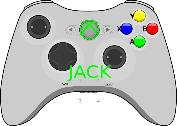 Xbox 360 Video Game Controller Clip Art New Xbox 360 Controller