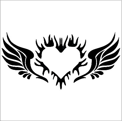 Angel Wings Decal With Heart Angels Decals Angels Stickers